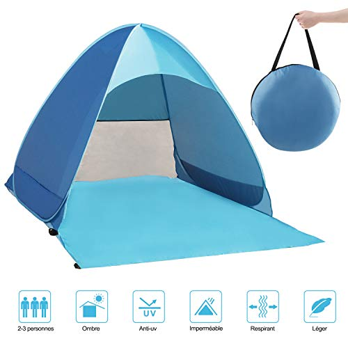 QcoQce Tente Anti UV, Abri de Plage avec...