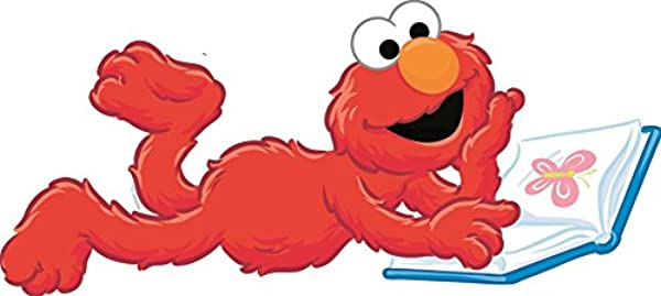 10 Inch Sesame Street Elmo Removable Wall Decal Sticker Art Home Kids Room Decor Decoration 10 1 2 By 4 Inches