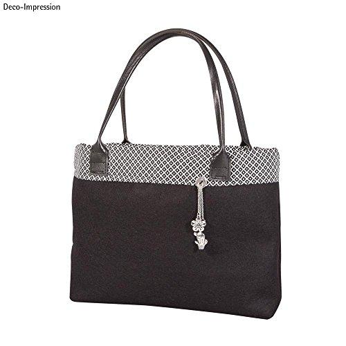 Rayher 6401201 Kunstleder-Taschengriffe, schwarz, 50,5 x 2,5 cm, 1 Paar, für selbstgemachte Taschen aus Stoff, Kork, Bast usw., Trageriemen, Taschenhenkel