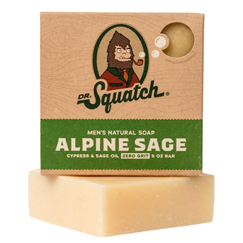 Alpine Sage Soap for Men – Revitalizing Natural Scent with Lavender, Cypress, Clary Sage Organic Oils – Bar Handmade in…