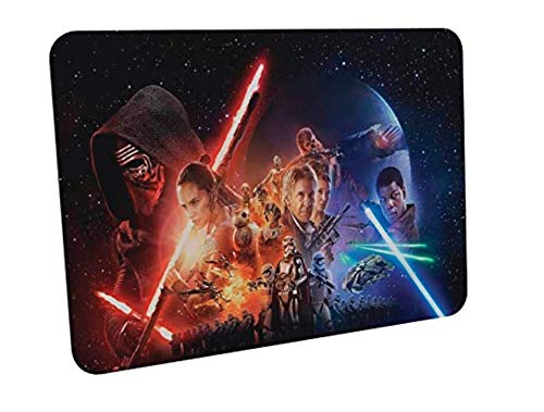 Clapper Tapis de souris de jeu – Star Wars – Doux extensible – Tissu de surface résistant – Base en caoutchouc antidérapant – S