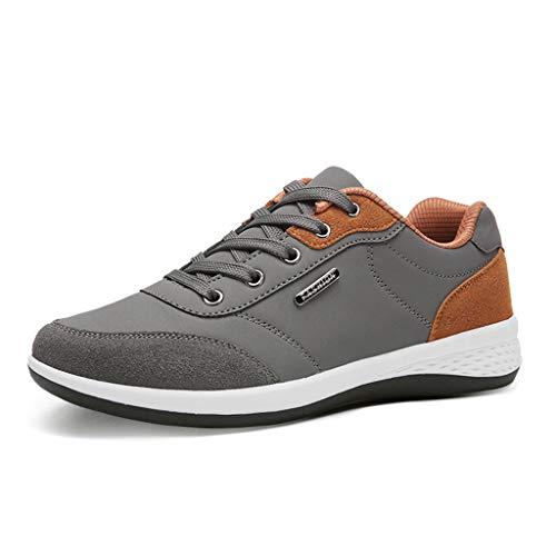 Zapatillas Running para Hombre Negocios Zapatos con Cordones Casuales Ligero Transpirables Zapatos Gimnasio Correr Sneakers 39-44 riou