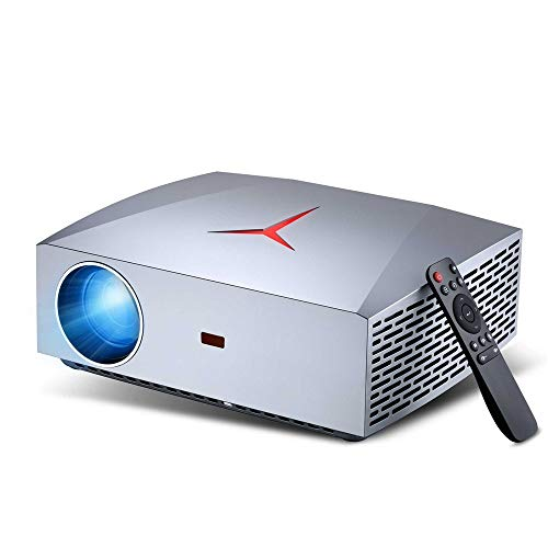Proyector Proyector de Negocios Inicio proyector Oficina de Apoyo Llevado a Tocar HD 1080P Mejor Experiencia de visualización (Color : Picture Color, Size : 295 * 245 * 90 mm)