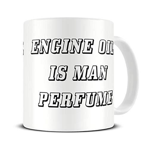 Cadeau voor mechanisch - Motorolie is Man Parfum Koffie Mok - Vaderdag Cadeau - Grappige Mok - Auto Mechanic - Echtgenoot Cadeau