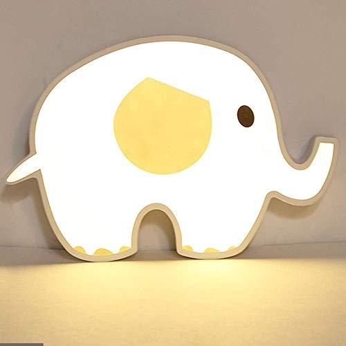 WEM Candelabros novedosos, habitación infantil personalizada, elefante de dibujos animados, luces de techo LED, simple y elegante, habitación infantil, techo con dibujos animados de animales (51,5 *