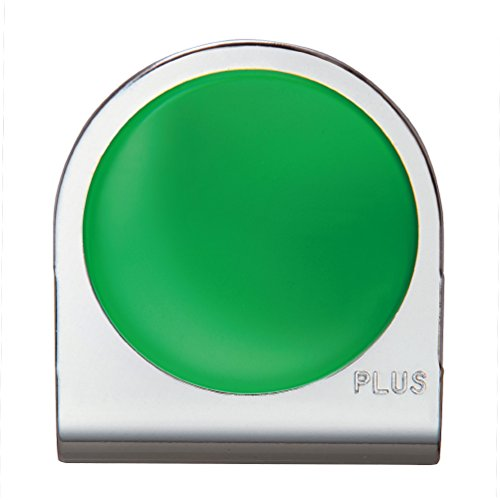 プラス カラーマグネットクリップ 大 グリーン クリップ幅43mm 80-562