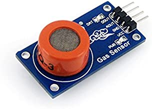Waveshare MQ-3 Alcohol Ethanol Gas Sensor Module Gas Detector Sensor Alcohol Detection Sensor for Arduino Raspberry pi