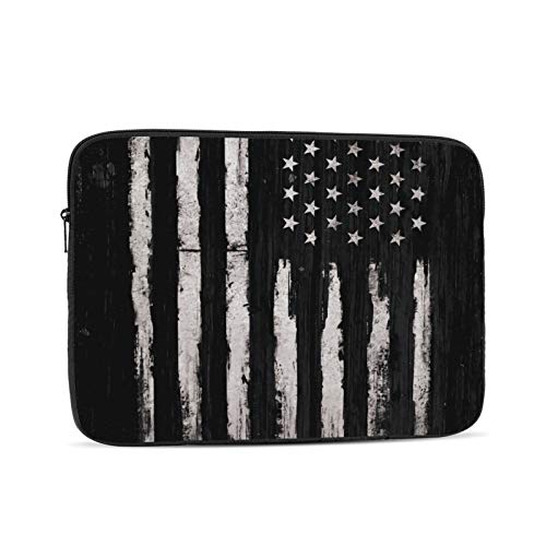 White Grunge American Flag 13 Inch Laptop Sleeve Bag Compatible with 13.3' Old MacBook Air (A1466 A1369) Notebook Computer Protective Case Cover