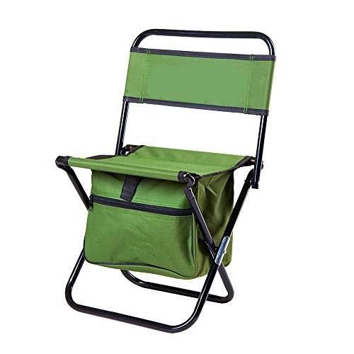 Draagbare opvouwbare sportstoel, compact stalen frame vouwstoel stoel draagbare campingstoel met bijzettafel met pakket Small size