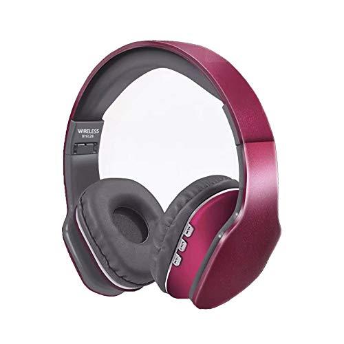 Auriculares Bluetooth sobre Oreja, Auriculares Estéreo Inalámbricos Plegables Y Cableados, Orejeras Cómodas Y Peso Ligero para El Uso Prolongado de La Oficina de Desplazamiento del Gimnasio, Etc.