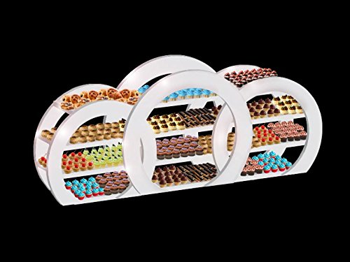 Great Features Of Food Display/Serving Station:Circular Shelving Group by Shop Event Decor