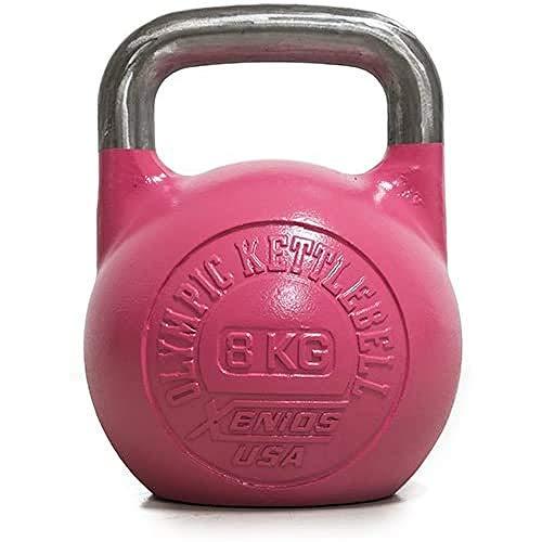 Xenios USA XSSTOKBL20 Pesa Rusas - Russian Girevoy Competition Kettlebell 20 Kg Ideal para la práctica del Entrenamiento Funcional, WOD, potenciamiento Muscular