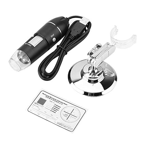 Maxmartt Digital Microscope,LED Microscope 50X-500X 0.3MP USB Magnifier for Computer with Holder