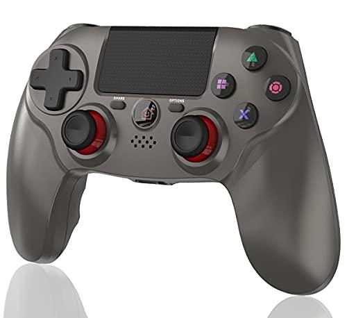 Maegoo Mando Inalámbrico Compatible para PS4, Bluetooth Inalámbrico Mandos Gamepad Joystick para PS4 Slim/PS4 Pro con Dual-Shock Vibración y 6-Axis Gyro Sensor, Touch Panel y Función de Audio