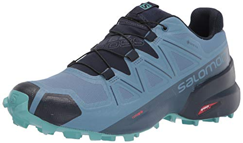 Salomon Women's Speedcross 5 GTX W Trail Running Shoe, Copen Blue/Navy Blazer/Meadowbrook, 8.5