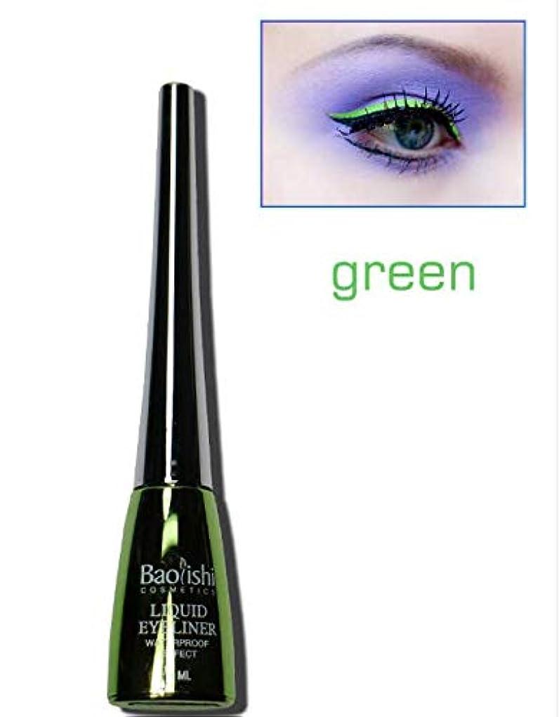 落胆させるヘロイン指標Geobiva - 6色防水リキッドアイライナーメイクペンシル目を長持ち化粧品[緑]
