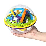 YANGYOU 3D Maze Ball,158 Challenging Barriers,Maze Game For Children,Magic Ball,Brain Teasers Puzzle Ball, 6.14 Inch
