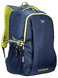 Killer Navy Blue Polyester Backpack - Checkers 29 LTR Office Laptop Backpack,400170210044