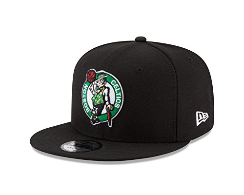 New Era NBA Boston Celtics Men's 9Fifty Team Color Basic Snapback Cap, One Size, Black