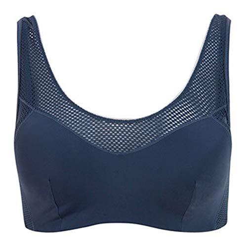 JIN Sport-BH Frau stoßfest kein Stahlring Unterwäsche Sommer Dünnschnitt bequem atmungsaktiv für Laufen, Schläger, Aerobic, Yoga, etc.-bluegrey-85A