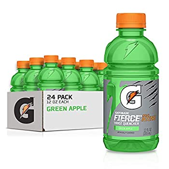 Gatorade Thirst Quencher Green Apple 12 Ounce Bottles  Pack of 24