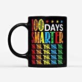 Teacher 100 Days Smarter Happy 100Th Day Of School 11Oz Coffee Mug