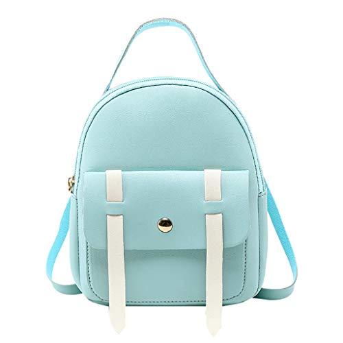 Mochila de mujer, Mochilas de Casual Mini impermeable PU estudiante bolsa de mensajero de cuero mochila portátil viajar, ir de compras, citas, fiesta, vacaciones riou