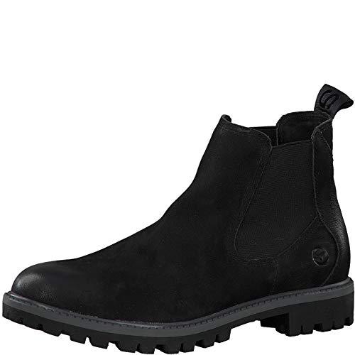 Tamaris Damen Stiefeletten, Frauen Chelsea Boots,lose Einlage, Women Woman Freizeit leger Stiefel halbstiefel Bootie flach,Black Uni,39 EU / 5.5 UK