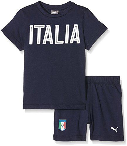 PUMA FIGC Italia Baby Set Completo Calcio, Peacoat, 86
