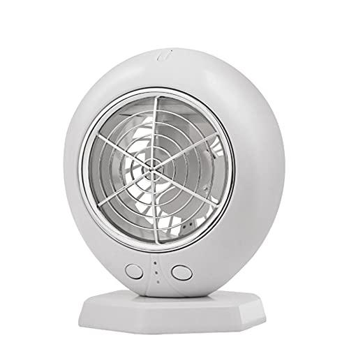 Enfriador de Aire Aire Acondicionado Para Espacio Personal, Mini Aire Acondicionado Para El Hogar, Enfriamiento De Escritorio USB Pequeño, Adecuado Para El área Personal Del Dormitorio Y(Color:blanco)