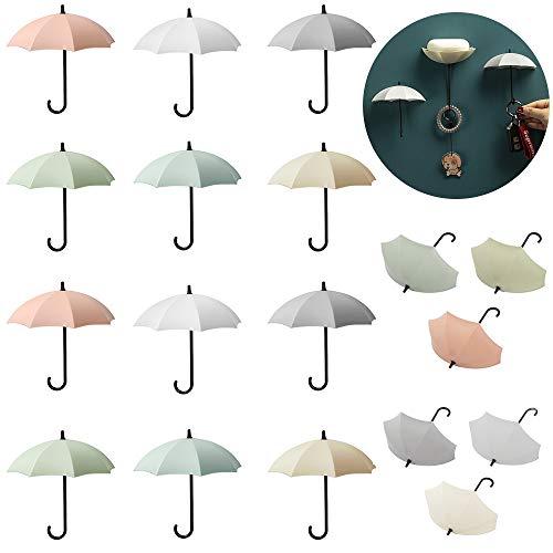 Ganchos de Pared para Llaves,18 Piezas Paraguas accesorios decorativos Colorido autoadhesivos ganchos pared,Para Cocina, Baño, Sala de Estar