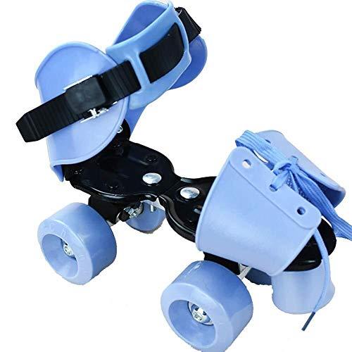 Syxfckc Patines con Ruedas retráctiles 4, retráctil Técnica Skateboarding Deporte, 2PM Deportes Ajustable Patines, Apto for Personas con un pie de Longitud de 22-25cm / 8.6-9.8in, Azul