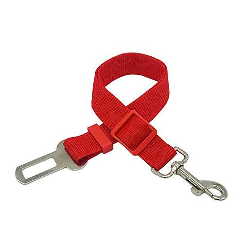 Correa Ajustable para Perros Perro para Mascotas Cinturón de Seguridad para el automóvil Camina Correas Muy duraderas Entrenamiento para el automóvil Perros Grandes, medianos y pequeños - Rojo