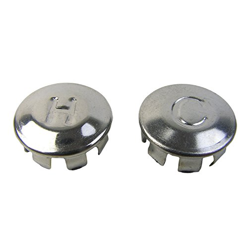 LASCO 0-6009 Hot/Cold Faucet Handle Index Buttons for Price Pfister OEM 941-060 and 941-070 Models, Chrome