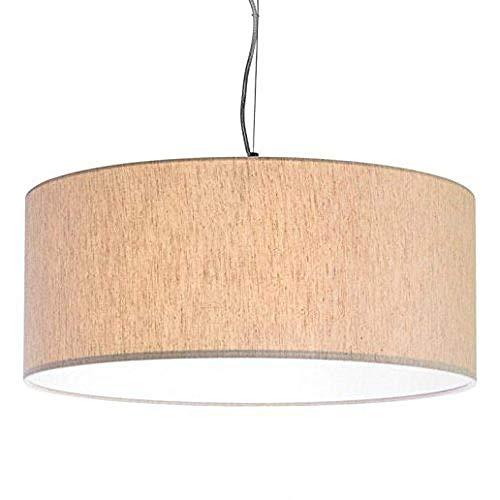 Restaurant Moderner LED-Stoff Hängelampenlampenschirm Ideal für Wohnzimmer und alle Räume Ihres Avantgarde-Hauses Durchmesser 50 in Farbe Bordeaux Light Tortora 50 cm-1067 ZP-1067