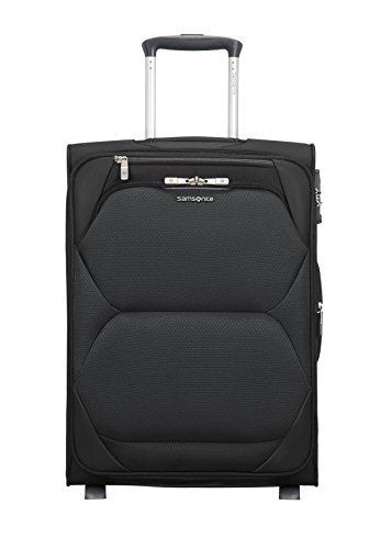 Samsonite Dynamore Upright 55/20 Equipaje de Mano, 55 cm, 50 Liters, Expandable Length 40cm, 2.5 KG, 43 L Negro (Black)