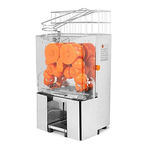 Chaneau Centrifugeuse Jus 120W Commercial Centrifugeuse Jus Orange Jus d'orange Machine Plastique (22-30 oranges)
