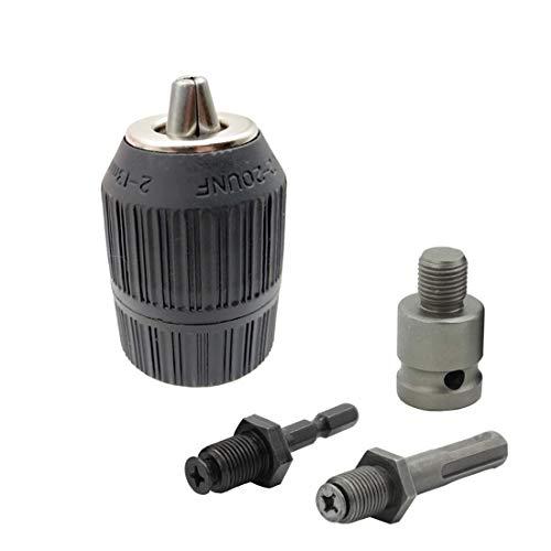 Convertidor de portabrocas sin llave, rosca 24UNF de 9,5 mm, adaptador de...