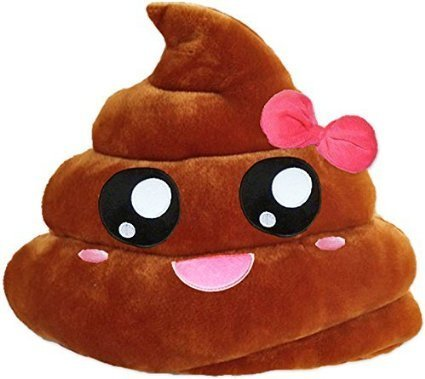 tia-ve Poop Form Funny Kissen Emoticon Emoji-Gefülltes Plüsch weich Spielzeug (Schleife)