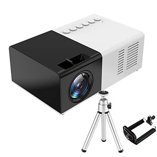 Proyector Portátil Mini, Full HD 3000 Lumen de 50000 Horas, Cine en Casa de 100 Pulgadas Soporta 1080P Compatible con TV Stick/ HDMI/ USB/ PS4/VGA/AV