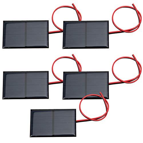 【 â】 Panneau solaire époxy, panneau de batterie solaire, polysilicium Belles lumières de paysage pratiques et robustes portables pour les lumières de pelouse