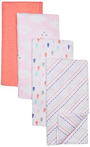 Luvable Friends Unisex Baby Cotton Flannel Burp Cloths