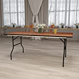 Flash Furniture 30x72 Wood Fold Table, 36' by 72', Brown