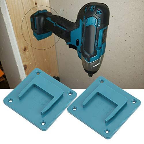 Estante de almacenamiento de herramientas, herramienta eléctrica 18V Soporte de fijación de herramientas eléctricas, 2 piezas de montaje en pared Bosch para Makita(blue)