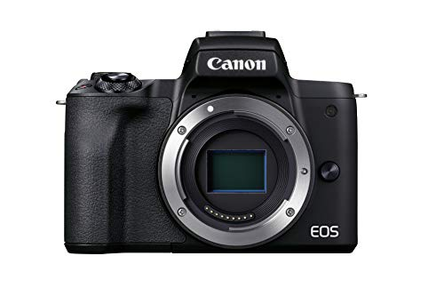 Canon EOS M50 Mark II Kamera Gehäuse (24,1 MP, 7,5 cm Touchscreen LCD, WLAN, HDMI, Bluetooth, APS-C Dual Pixel CMOS AF System, Augenerkennung, DIGIC 8, 4K Video, OLED EVF), schwarz