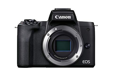 Canon EOS M50 Mark II Kamera Gehäuse (24,1 MP, 7,5 cm Touchscreen LCD, WLAN, HDMI, Bluetooth, APS-C Dual Pixel CMOS AF System, Augenerkennung, DIGIC 8, 4K Video, OLED EVF), schwarz
