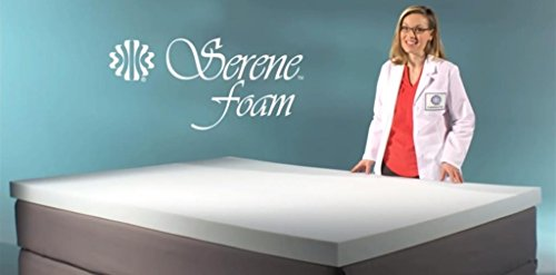 Serene Foam King Size 2 Inch Thick, Advanced Supportive Air Technology Mattress Bed Topper Made in the USA