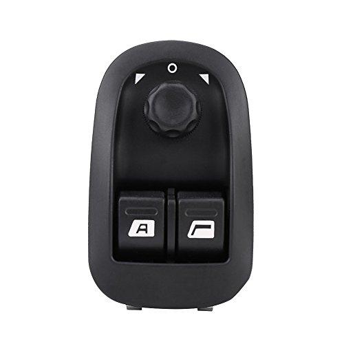 Suuonee Interruptor de Elevalunas Eléctrico, Interruptor de Elevalunas Eléctrico Control de Botón de Espejo OE: 206 6554.WA