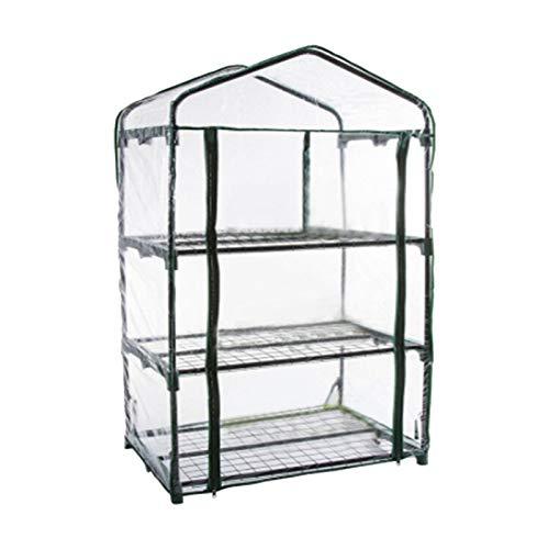 QOTSTEOS - Mini serra compatta a 3 o 4 livelli, per giardino, piante, protezione dal gelo freddo, vento e pioggia (telaio non incluso).