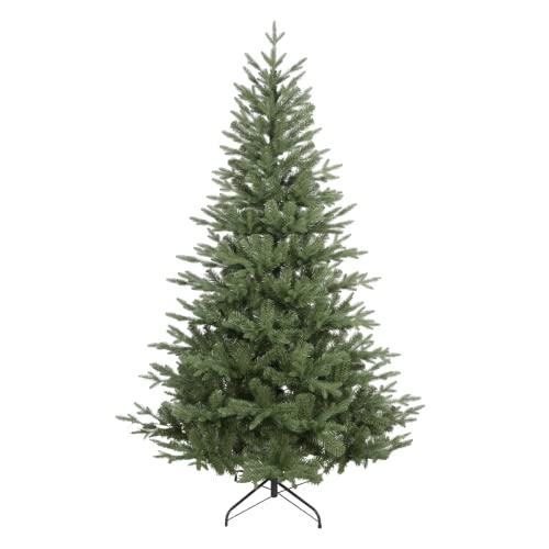 Dellonda Realistic Artificial 6ft/180cm Hinged Christmas Tree with 1000+ PE/PVC Tips - DH45